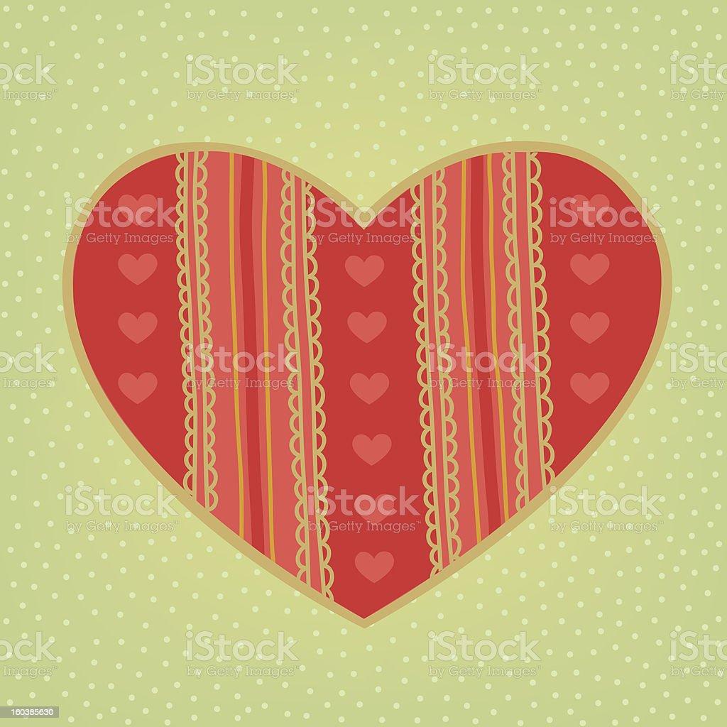 Stylized big heart royalty-free stock vector art