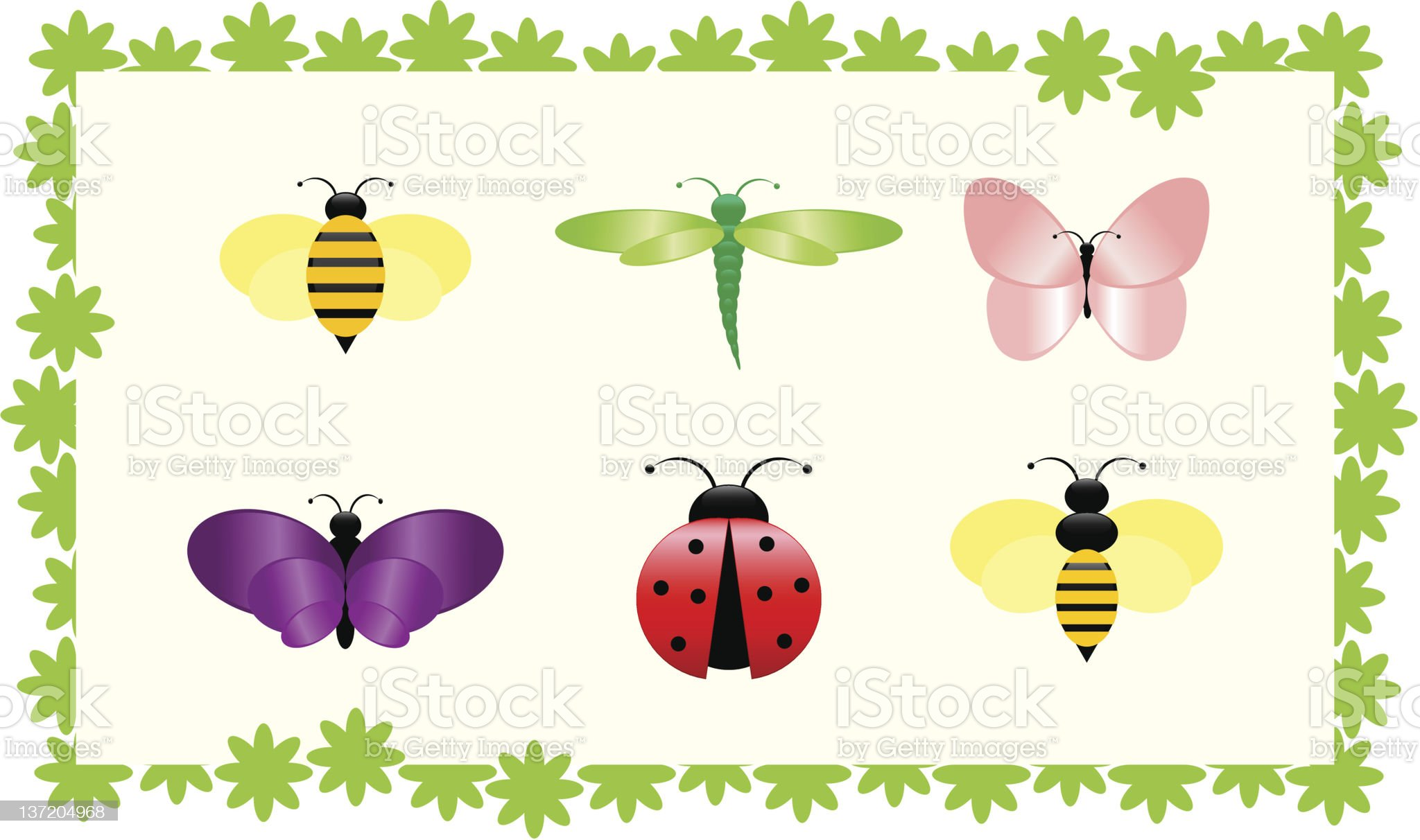 Stylized bugs royalty-free stock vector art