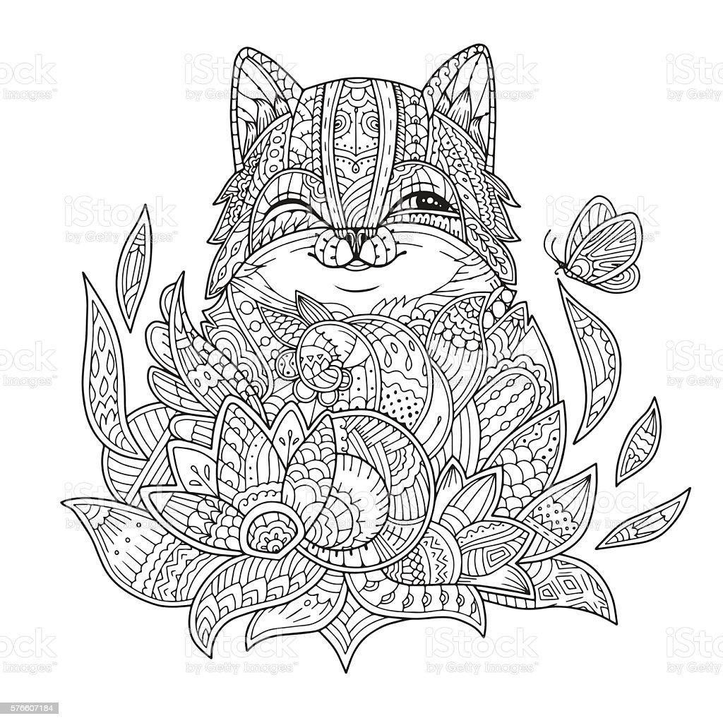 stylized cat hand drawn vector stock vector art 576607184 istock