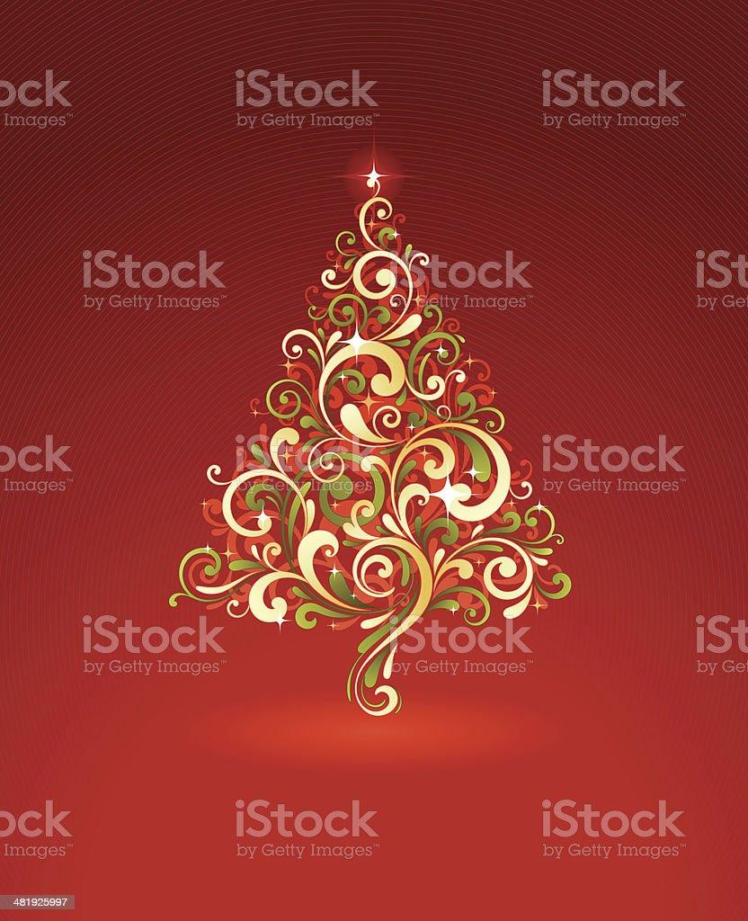 Stylized Christmas Tree royalty-free stock vector art