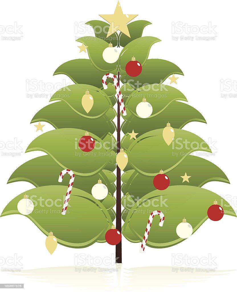 Stilisierten Weihnachtsbaum mit Ornamenten Lizenzfreies vektor illustration