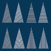 Stylized Christmas trees
