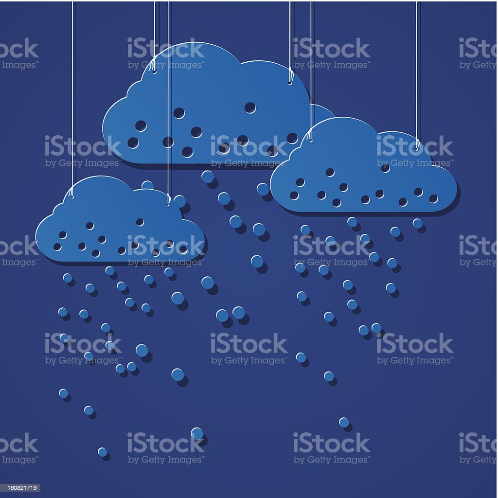 stylized clouds royalty-free stock vector art