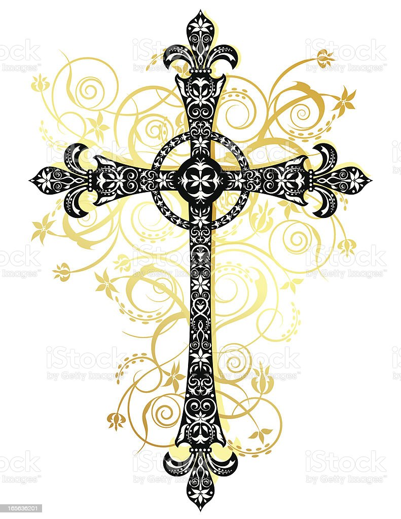 Stylized Cross royalty-free stock vector art