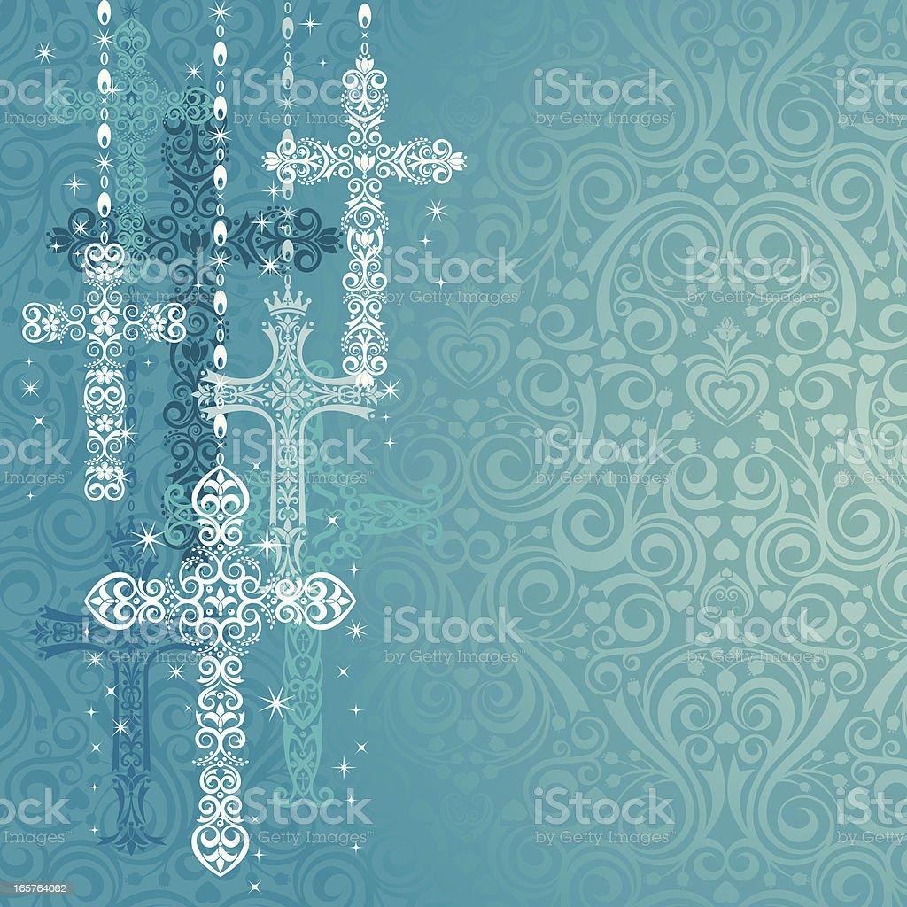 Stylized Crosses vector art illustration