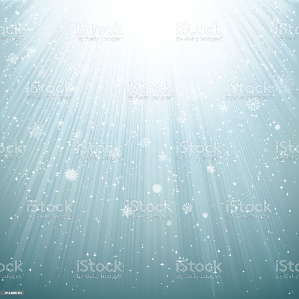 Stylized depiction of snowfall vector art illustration