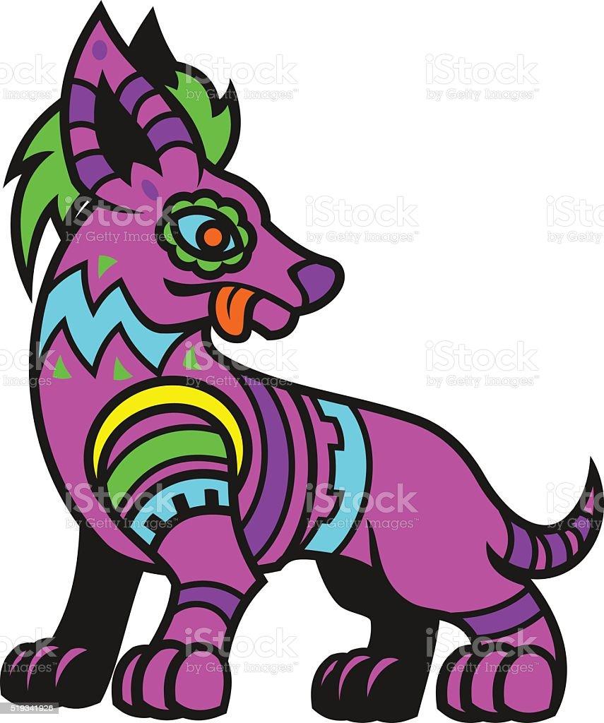 Stylized dog vector art illustration