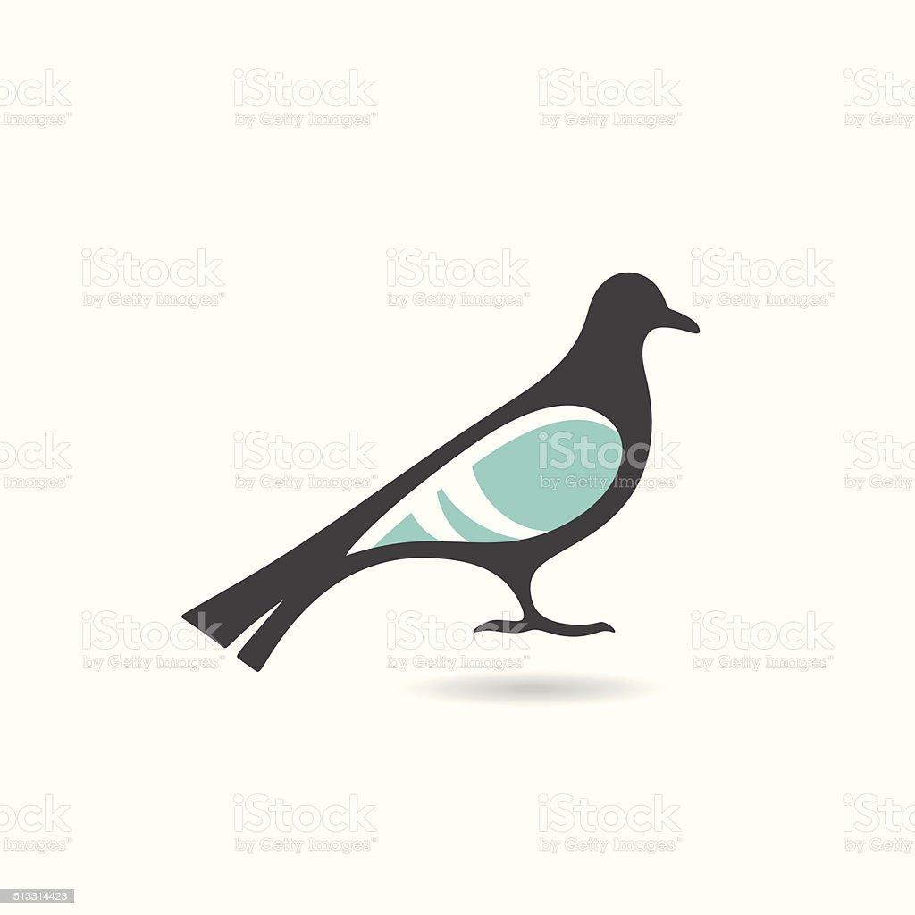 Stylized dove icon vector art illustration