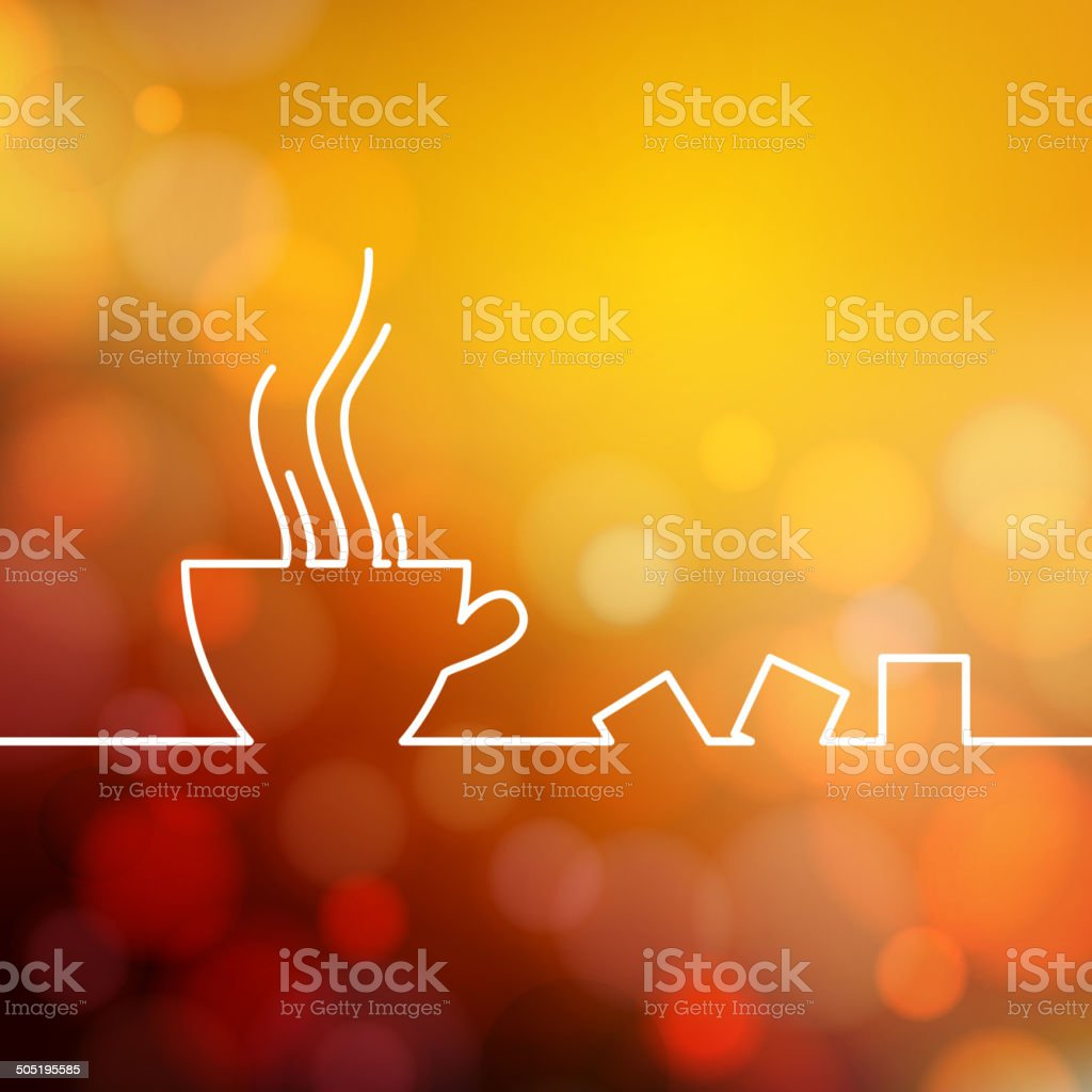 Stylized drawing of a coffee cup. vector art illustration