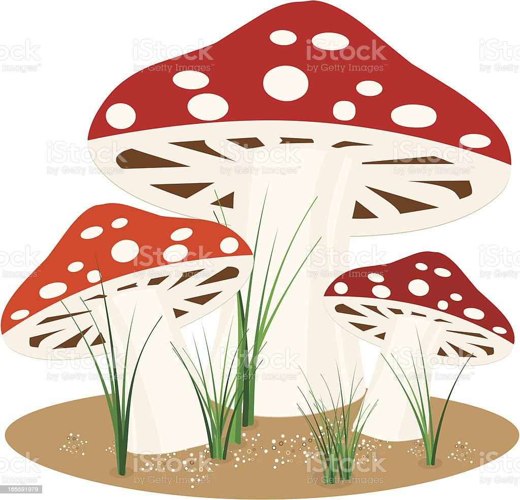 Stilisierte Fly Agaric Pilzen Design Lizenzfreies vektor illustration