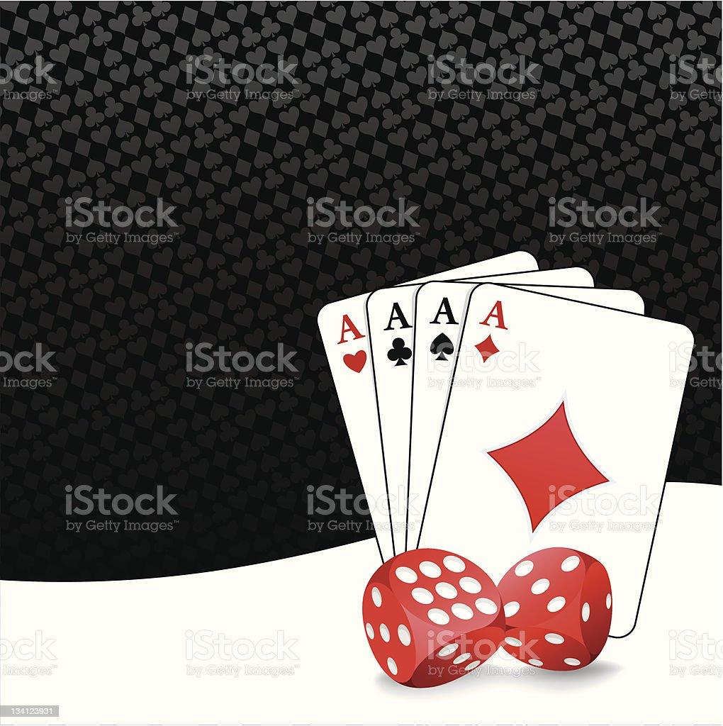 Stylized gambling background royalty-free stock vector art