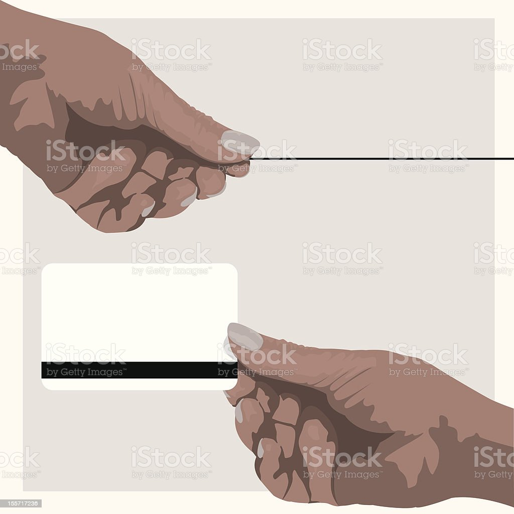Stylized Hands royalty-free stock vector art
