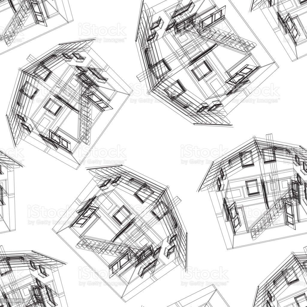 Stylized house pattern royalty-free stock vector art