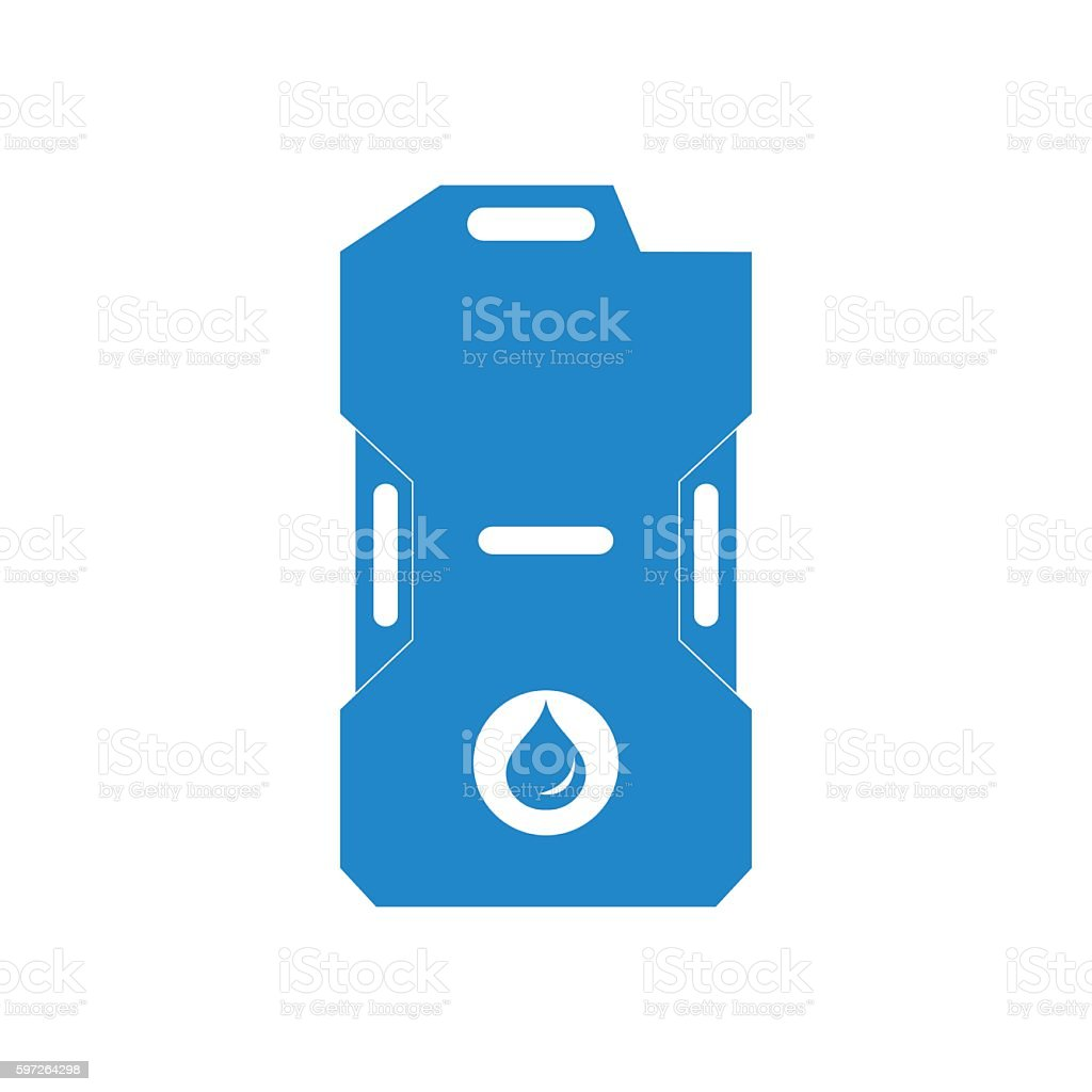 Stylized icon of the canister of gasoline vector art illustration