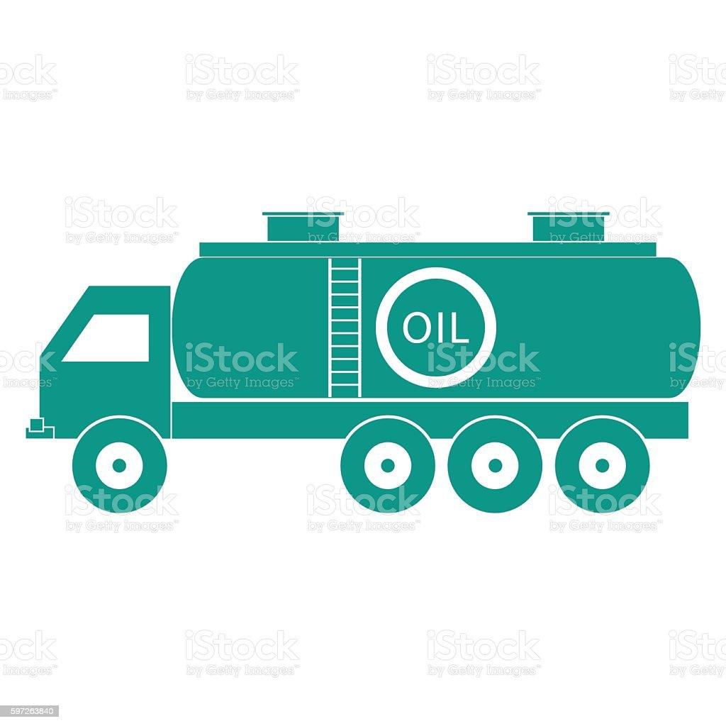 Stylized icon of the oil tanker/fuel tanker vector art illustration