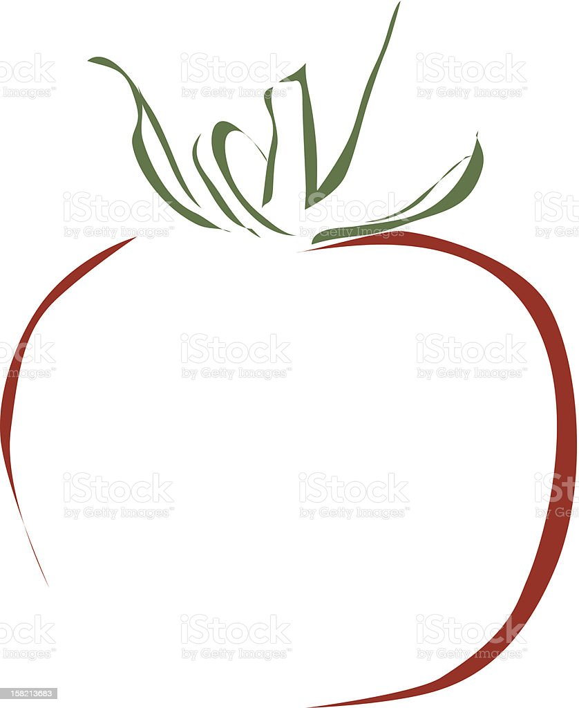 stylized illustration of a tomato royalty-free stock vector art