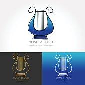 stylized image of lyre logo
