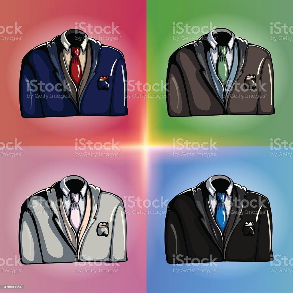 Stylized Jackets vector art illustration
