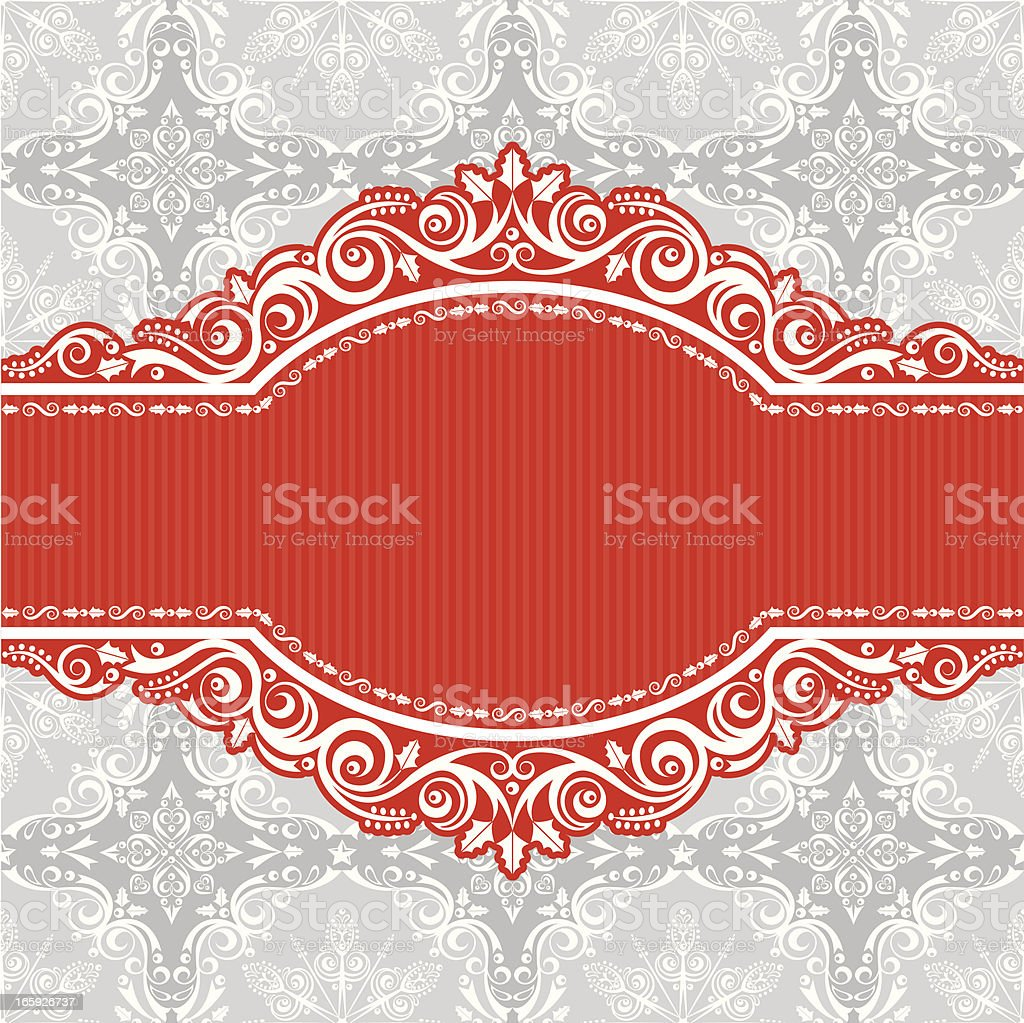 Stylized Lacy Christmas Card royalty-free stock vector art