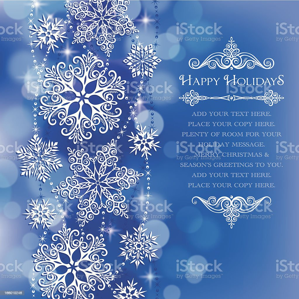 Stylized Lacy Snowflakes royalty-free stock vector art