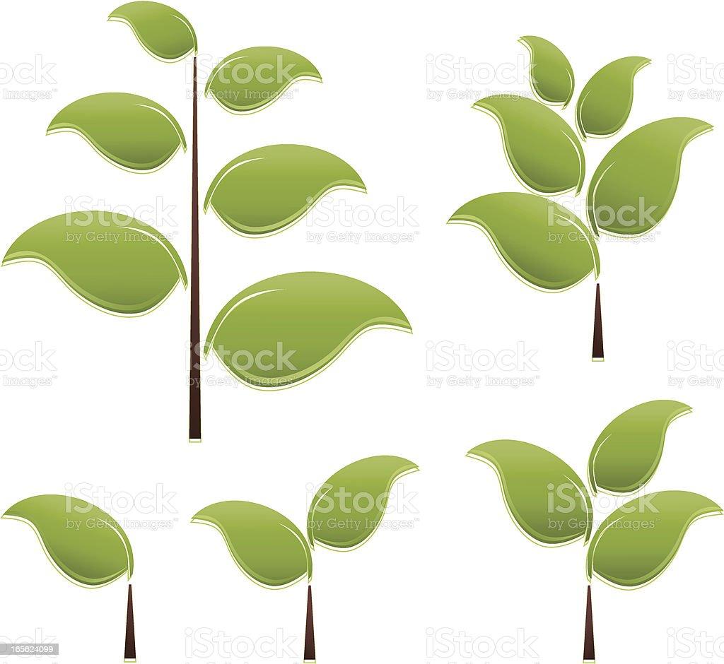Stilisierte Blätter und Bäumen mit Lizenzfreies vektor illustration