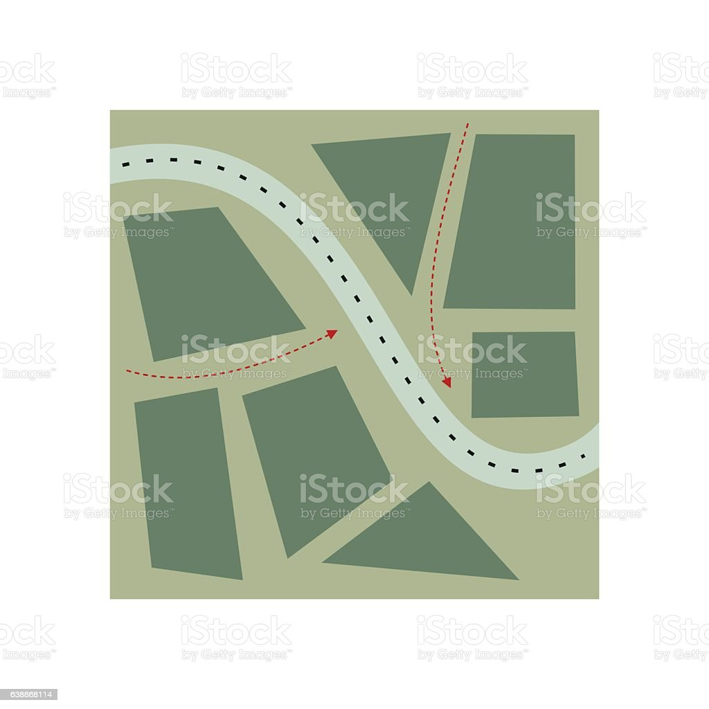 Stylized map flat illustration vector art illustration