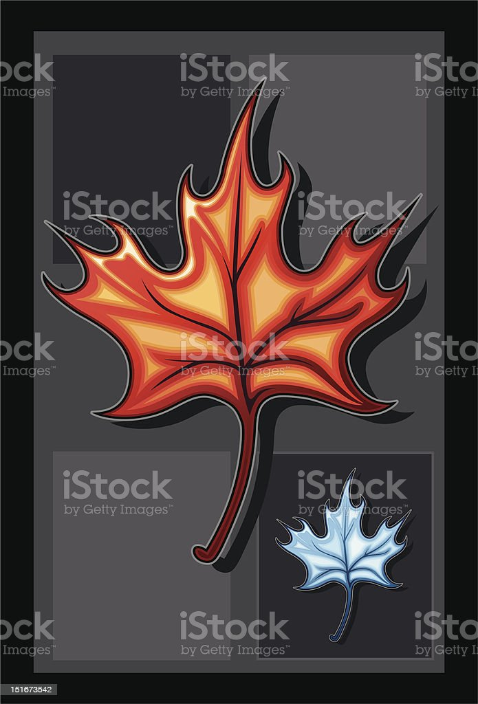 Stylized Maple Leaf royalty-free stock vector art