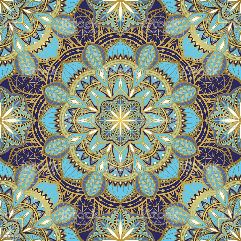 Stylized oriental ornament. vector art illustration
