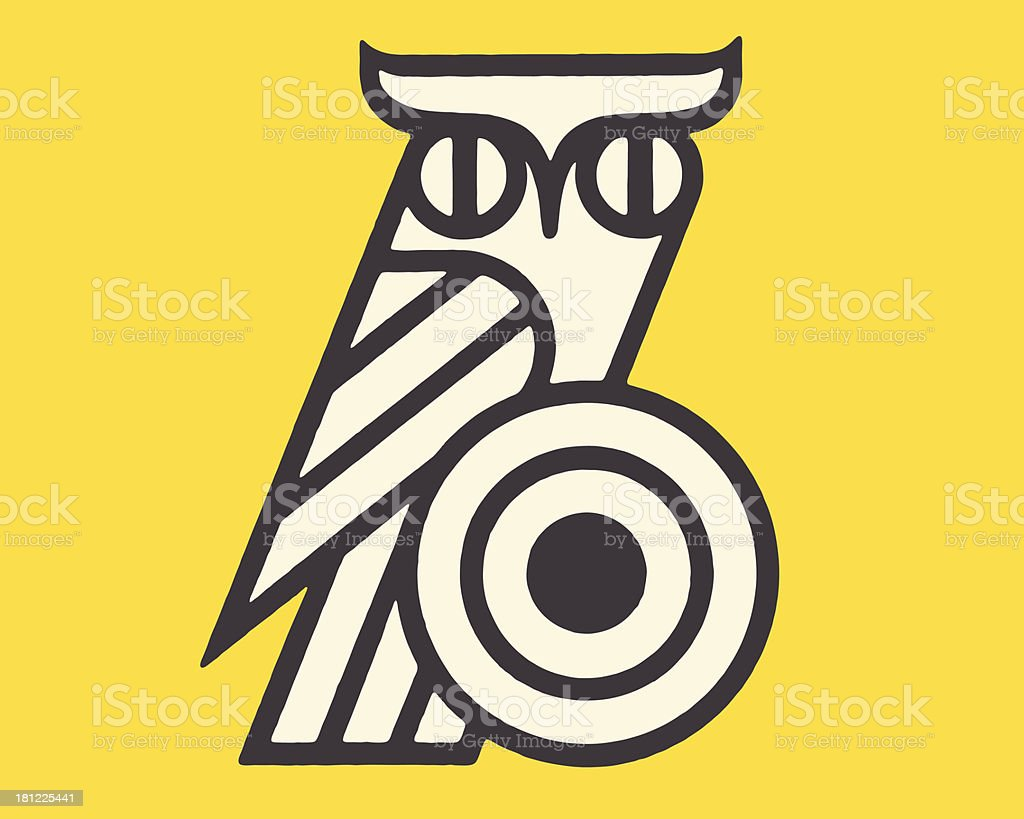 Stylized Owl royalty-free stock vector art