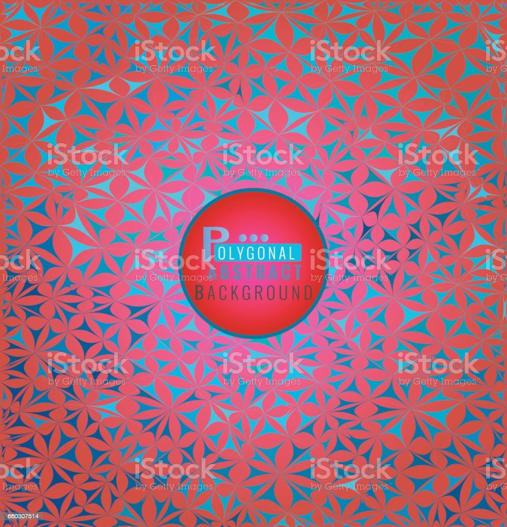 Stylized pattern BG with pink and blue color vector art illustration