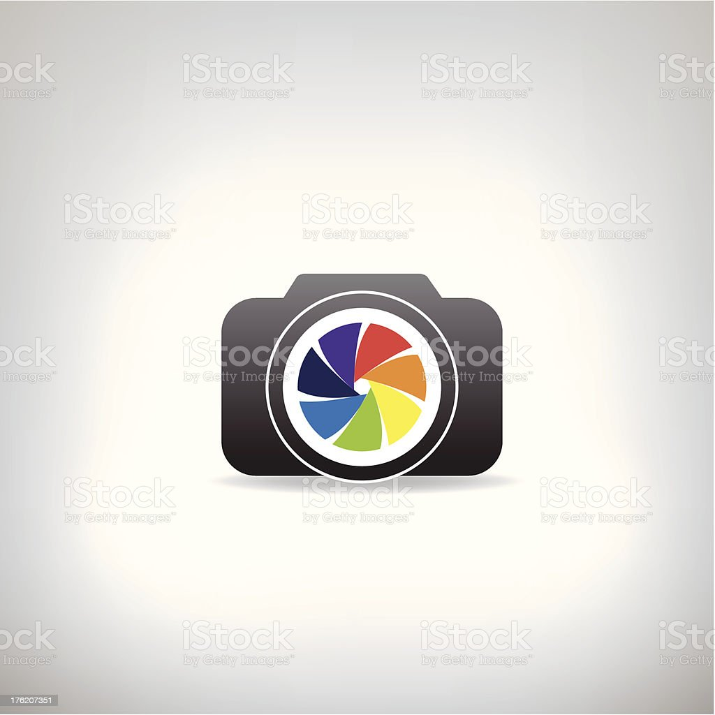stylized photo camera royalty-free stock vector art