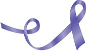 Stylized Purple Awareness Ribbon - domestic violence, animal abuse,  crohn's