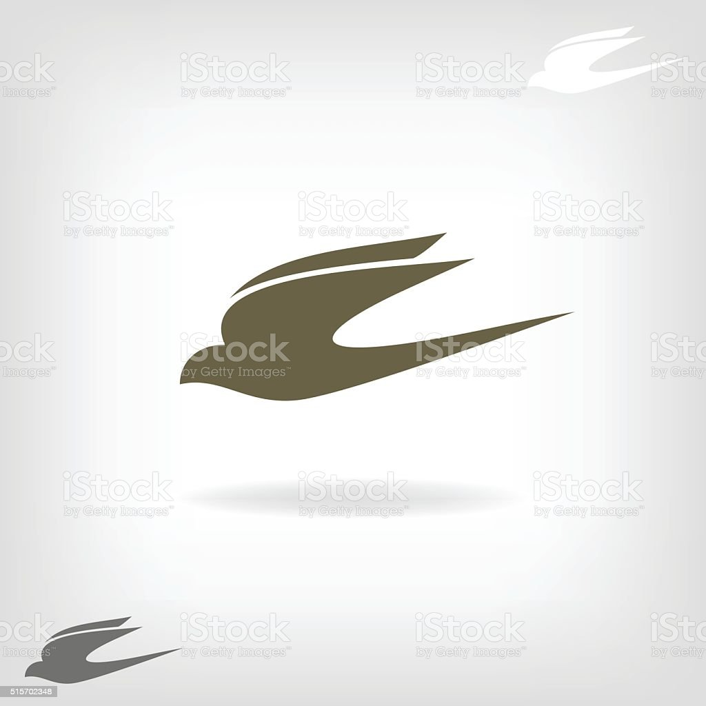 Stylized silhouette swallow vector art illustration