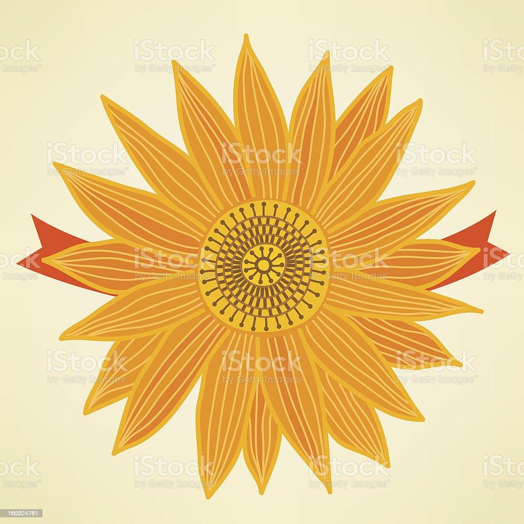 Stylized sunflower royalty-free stock vector art