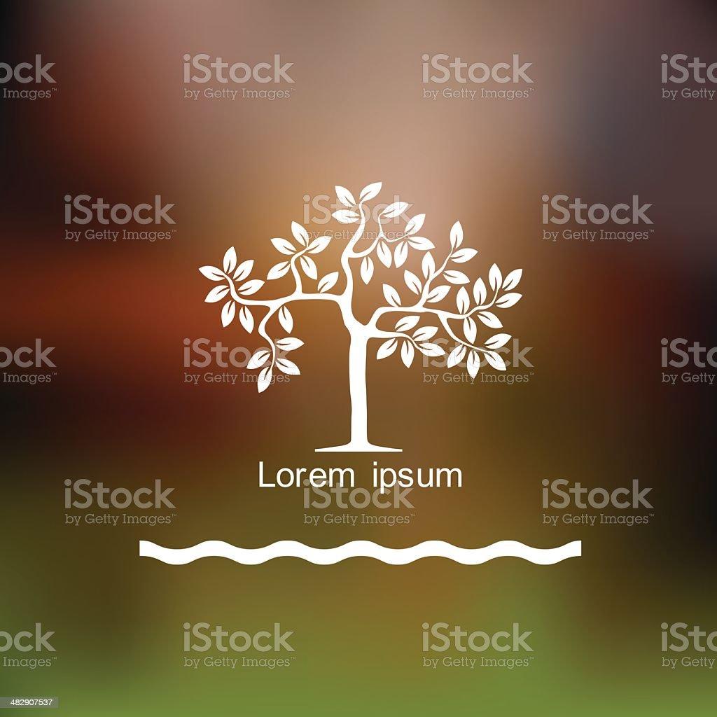 Stylized tree icon vector art illustration