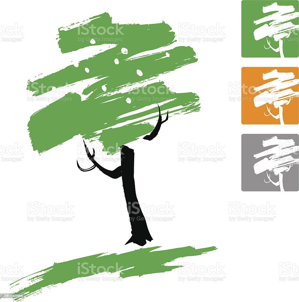 Stylized Tree vector art illustration
