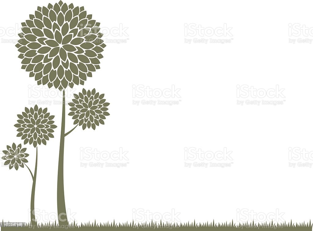 Stylized trees royalty-free stock vector art