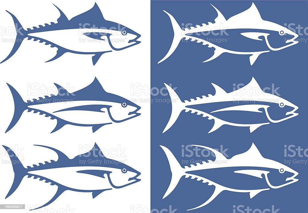 Stylized tuna vector art illustration