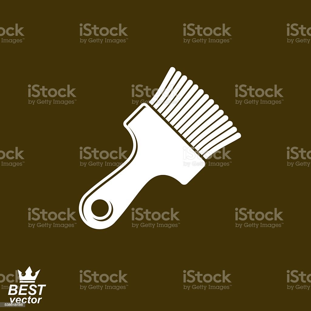 "Stylized vector repair instrument,€"" simple paint brush for whitewash vector art illustration"