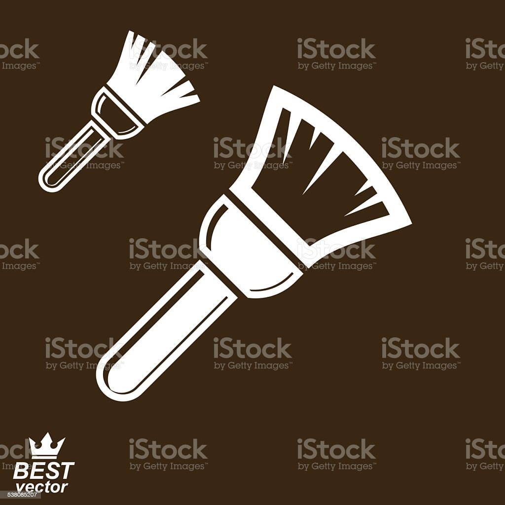 Stylized vector repair instrument, simple paint brush vector art illustration