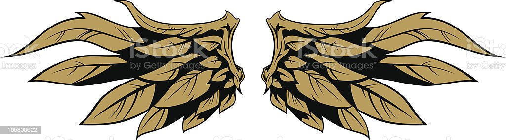 Stylized wings royalty-free stock vector art