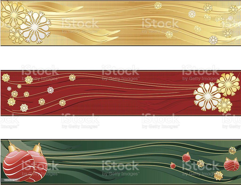 Stilisierte oder Winter Christmas Banner-Satz von drei Lizenzfreies vektor illustration