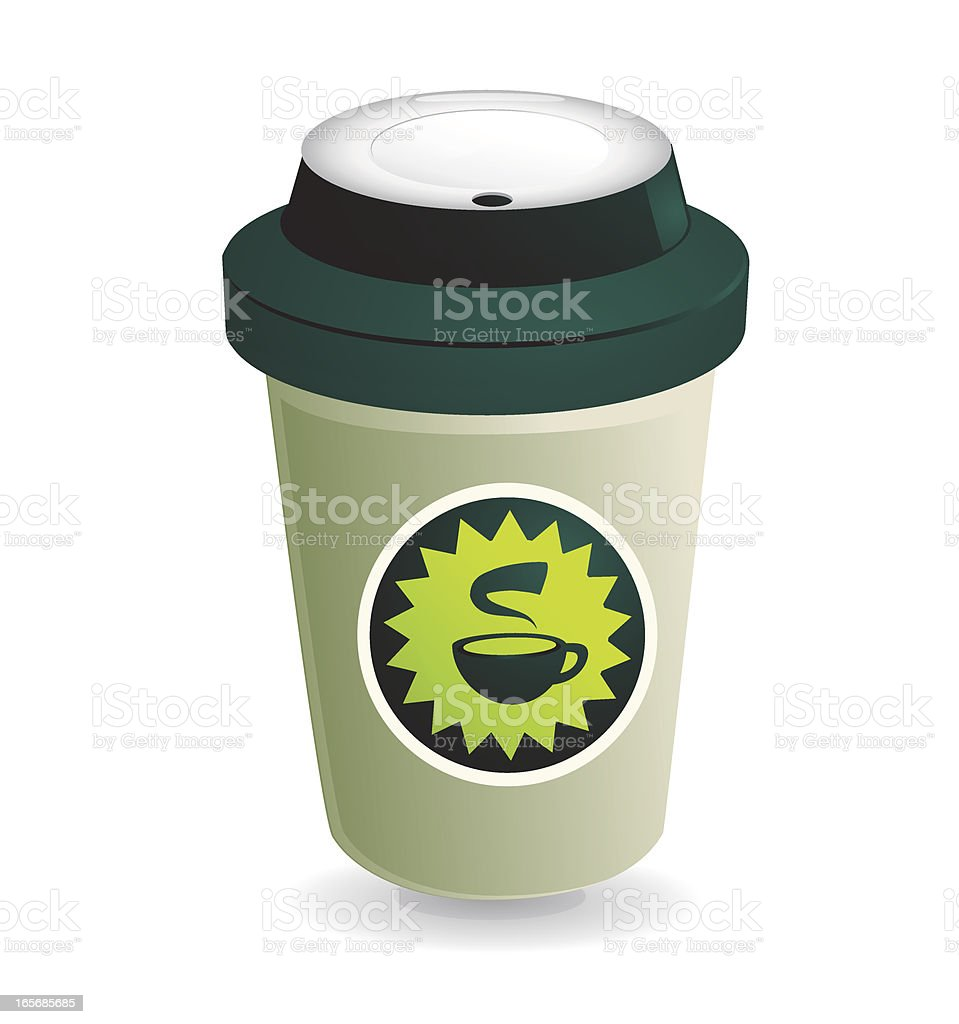 Styrofoam Coffee Cup royalty-free stock vector art