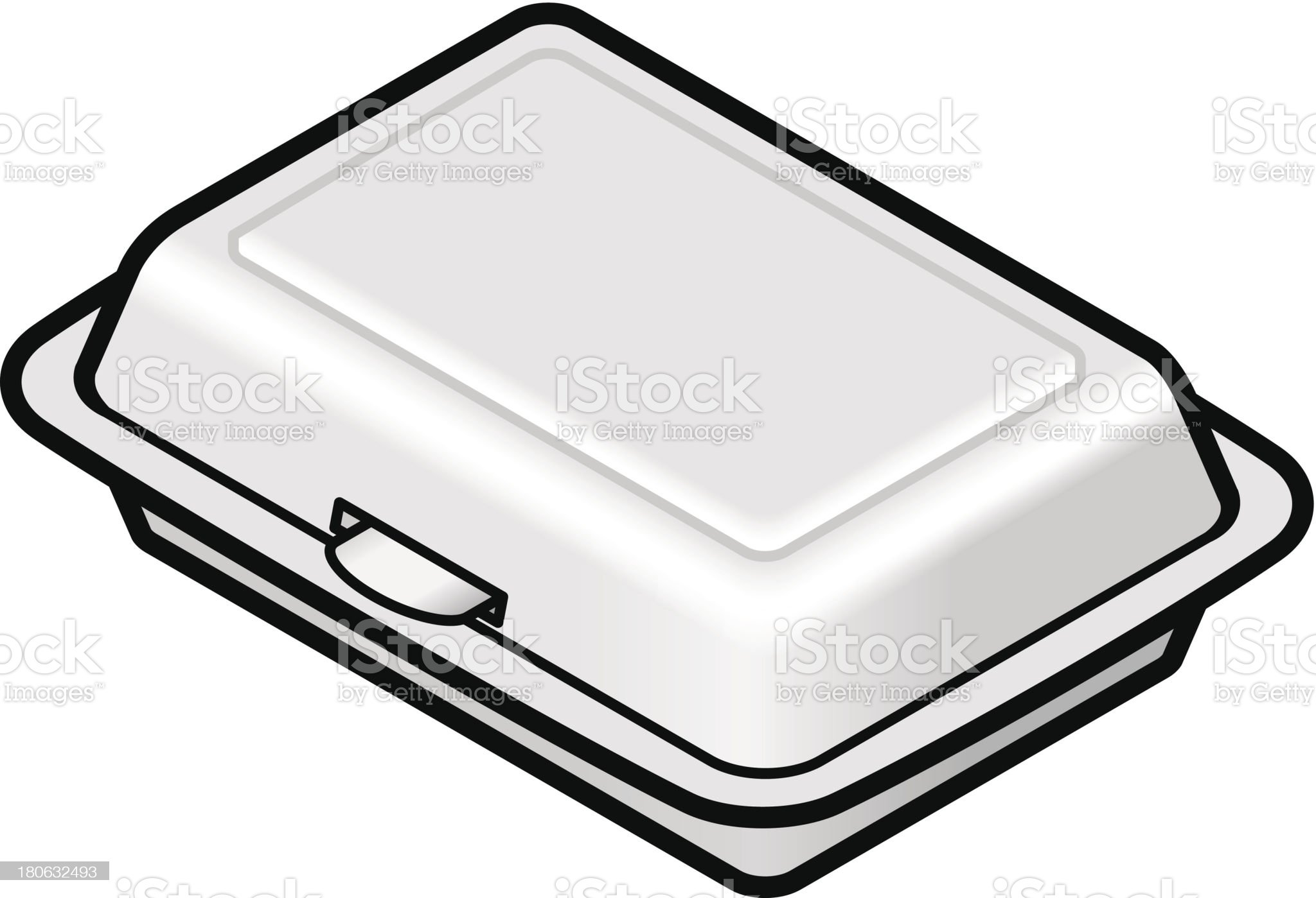 Styrofoam container royalty-free stock vector art