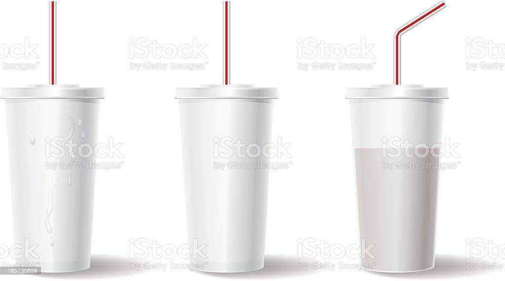 Styrofoam Cup vector art illustration