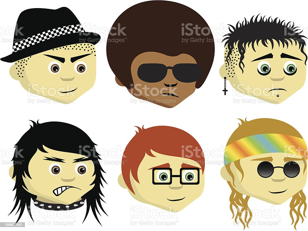 Subcultures II royalty-free stock vector art