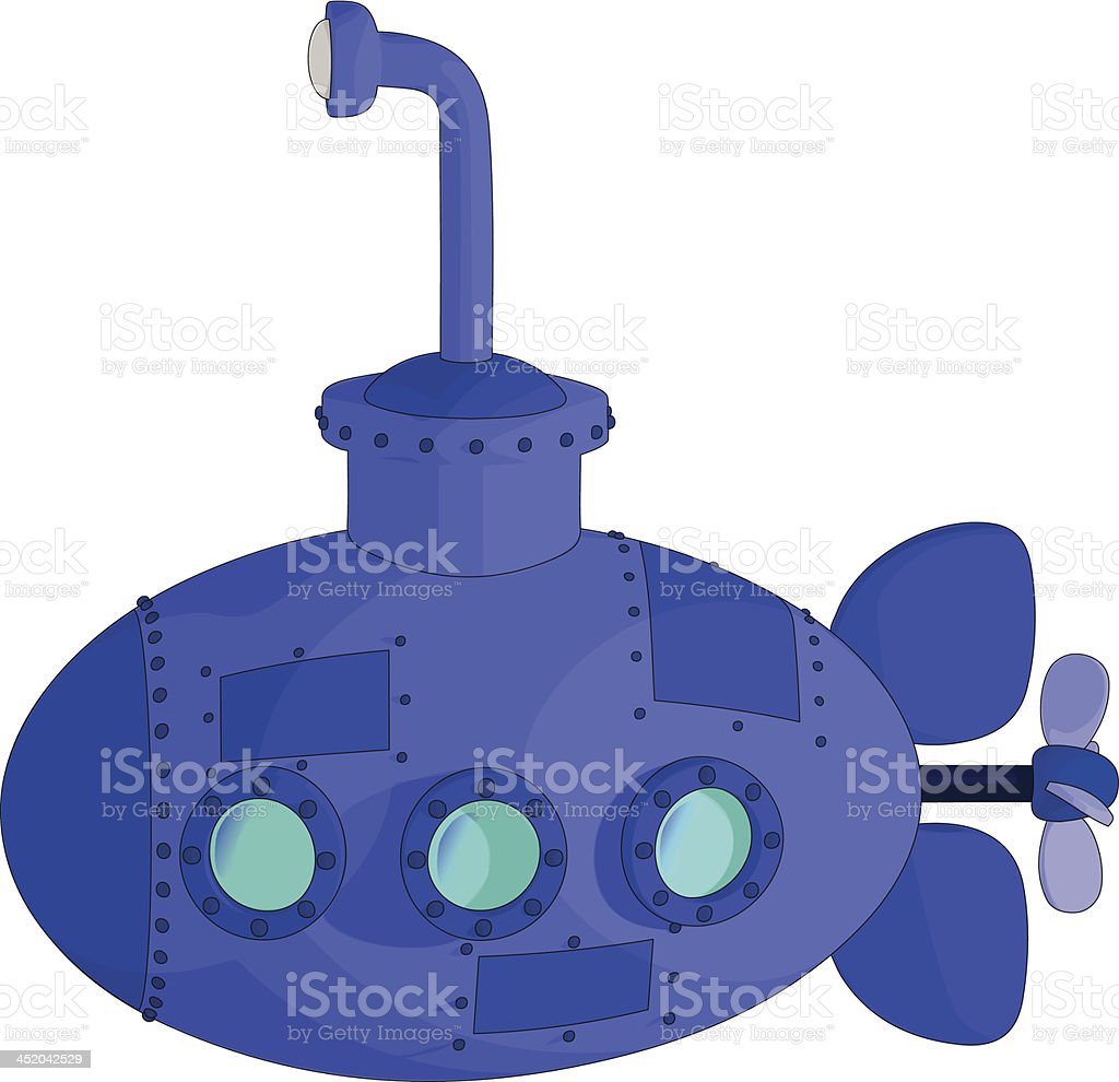 Sous-marin stock vecteur libres de droits libre de droits