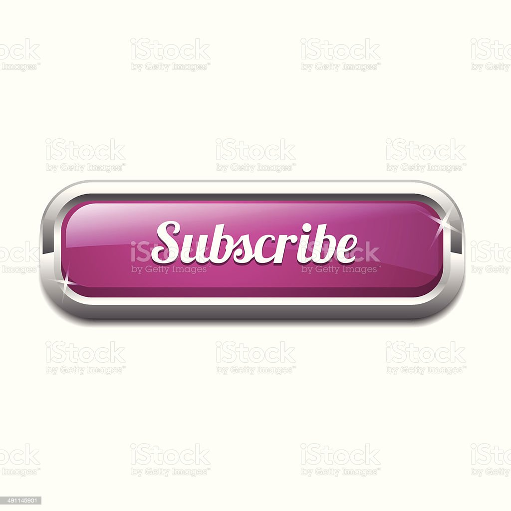 Subscribe Rounded Rectangle Vector Button Icon Set royalty-free stock vector art
