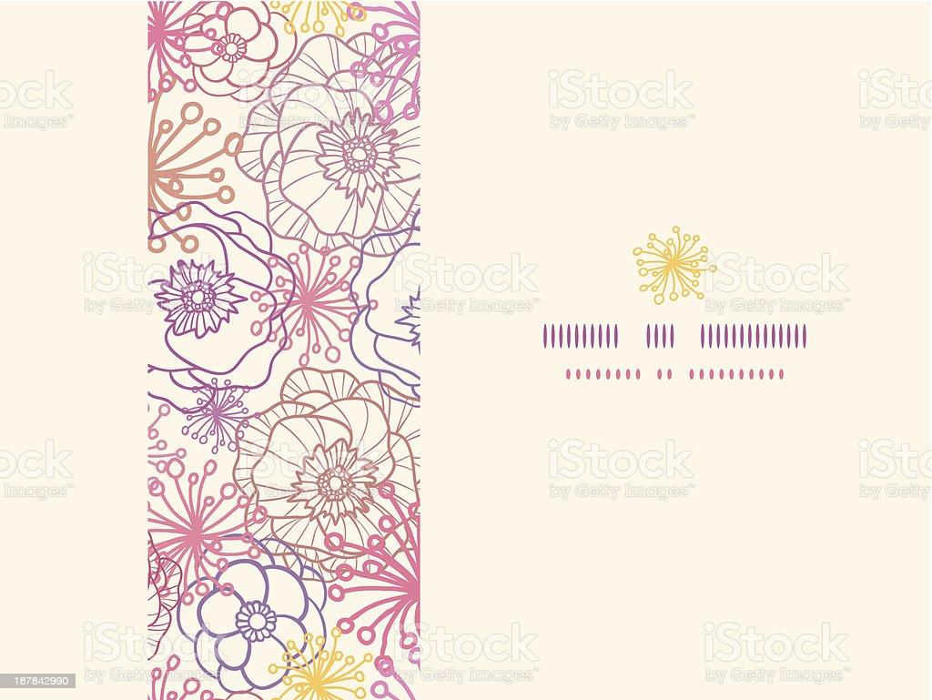 Subtle field flowers horizontal seamless pattern background royalty-free stock vector art