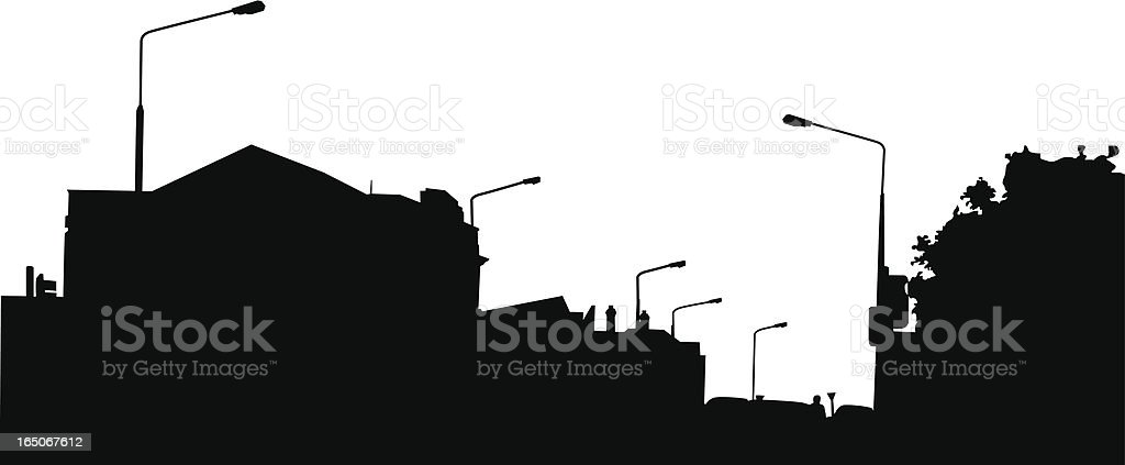 Suburban Silhouette royalty-free stock vector art